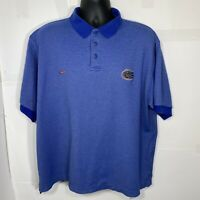 Vintage Nike Florida Gators Mens XL Golf Polo Shirt Blue Embroidered Team