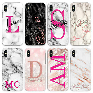 PERSONALISED INITIALS CASE COVER FOR APPLE IPHONE XR 11 5s 6s 7 8 Plus zx0076