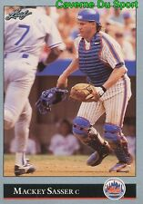 108   MACKEY SASSER    NEW YORK METS BASEBALL CARD LEAF 1992