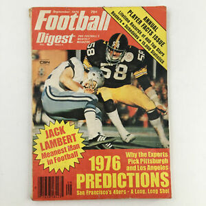 Football Digest Magazine September 1976 Jack Lambert the Meanest Man No Label