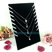 HOT! Velvet Jewellery Necklace Chain Pendant Display Show Holder Stand Organizer
