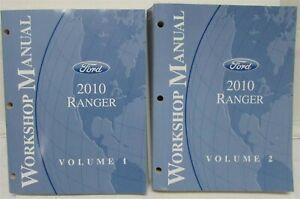 2010 Ford Ranger Pickup Truck Service Shop Repair Manual Set Vol 1 & 2