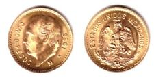 Mexico Gold 5 Pesos GEM B.U.--HAND SELECTED FOR BEST QUALITY--ABSOLUTELY STELLAR