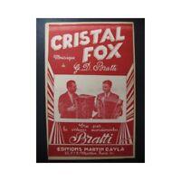 Cristal Fox Bratti Akkordeon Piano Saxophon Trompete Noten Sheet Music Sco