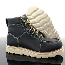 "NEW Caterpillar Tradesman Leather 6"" Soft Toe EH Work Boots Men Size 8.5 Black"