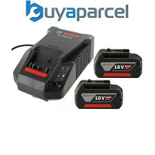 2 x BOSCH 18v 4Ah Li-Ion CoolPack Baterías Litio Ion + AL1860 Turbo Cargador