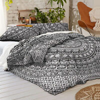 Hippie Bohemian Bedding set  Indian Full Queen Size Bed Cover Mandala Bed Sheet