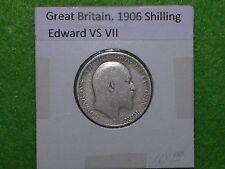 GREAT BRITAIN - 1906 ONE SHILLING - PREDECIMAL COIN - SILVER .925.