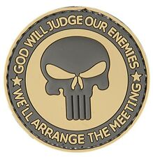 "AC-130R: Lancer Tactical ""GOD WILL JUDGE OUR ENEMIES"" PVC PATCH (TAN/BK)"