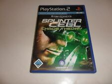 PLAYSTATION 2 PS 2 Tom Clancy's Splinter Cell-caos Theory