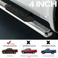 """4"""" Oval SS Chrome Side Step Nerf Bar Running Board 04-08 F150 Crew/Supercrew Cab"""