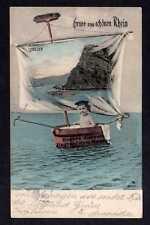 103276 AK Loreley Gruss vom schönen Rhein Kind in Badewanne 1906 Unsere Zukunft