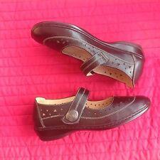 Ladies Annabelle Black Leather Mary Jane Shoes, 7Uk