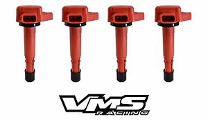 VMS RACING HIGH OUTPUT RED IGNITION COIL FITS 01-05 HONDA CIVIC 1.7 UF400 UF-400