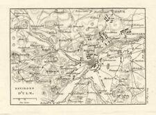 Bataille de??? ulm 1805. guerre de la troisième coalition. baden-württemberg carte de 1819