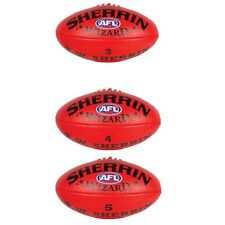 Sherrin Wizard Leather Red Football Sizes in 4 and 5 Get Yours Now Ball Size 3