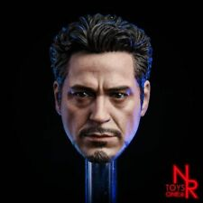 1/6 The Avengers Iron Man Tony Stark Male Head Model Toy Fit 12'' Figure