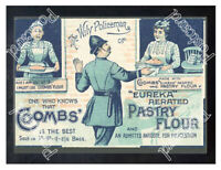 Historic Coombs Pastry flour, 1890s. Advertising Postcard 2