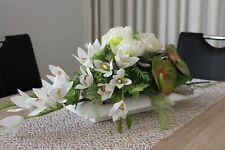 traumhaft schönes Orchideen-Gesteck neu 35cm