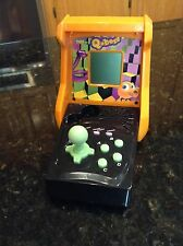 Q-bert Mini Hand Held Arcade Game RARE EUC