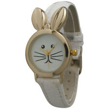 BUNNY RABBIT EASTER SPRING ANIMAL PET WATCH BUNNY EARS WHITE DESIGNER WATCH