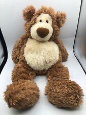 Large Gotta Getta Gund Alfie Brown Teddy Bear Plush Soft Stuffed Toy Animal Doll