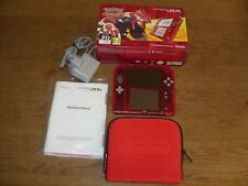NINTENDO 2DS CLEAR RED CONSOLE with POKEMON OMEGA RUBY Pre-Installed - BOXED