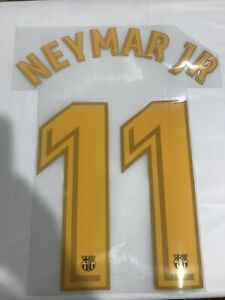 Barcelona Neymar Jr#11 17-18 Name & Number Transfer Authentic Player Issue KIDS