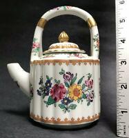 """5"""" x6"""" Old Vintage PORCELAINE DE PARIS Miniature Teapot Floral Gold Gilt France"""