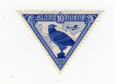 Stamp from Iceland (Island) 1930 Air Mail 10aur Scott#C3 Mint Hinged