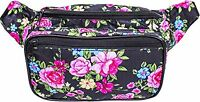 Fanny Pack - Flower, Floral, Rose (Pink / Yellow / Black) by SoJourner Bags