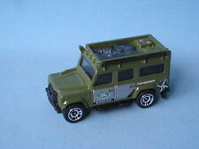 Matchbox Land Rover 110 Defender Green Body Safari 4x4 Off Road Toy Model Car UB
