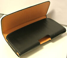For iPhone 6 6s Plus Black Leather Horizontal Belt Clip Handyman Case Cover