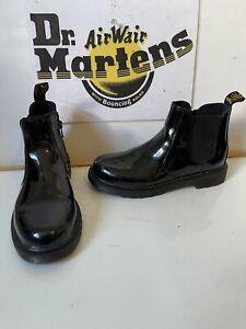 Dr. Martens Banzai Chelsea Black Leather Boots Size UK 3 EU 36