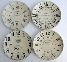 Pottery Barn Vintage Clock Salad Plates Dessert Set Of 4