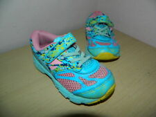 girls Asics Noosa Tri 10 blue/pink shoes trainers with fasteners uk 8 eur 26