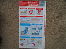 KLM Collectable Airline Safety Cards