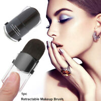 Black Retractable Mini Blush Foundation Powder Brush Cosmetic Makeup Brush