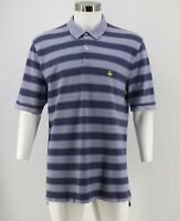 Brooks Brothers Performance Polo Shirt Size XL Blue Striped Original Fit Mens