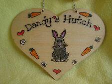 Personalised Cuore porcellino d'india o Bunny Rabbit House Hutch Gabbia Eseguire segno da giardino