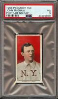 Rare 1909-11 T206 HOF John McGraw Portrait No Cap Piedmont 150 New York PSA 3 VG