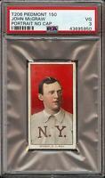 Rare 1909-11 T206 HOF John McGraw Portrait No Cap Piedmont 150 New York PSA 3 VG