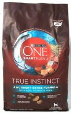 1 Bag Purina One 3.8 Lb Smart Blend True Instinct Nutrient Dense Salmon & Tuna