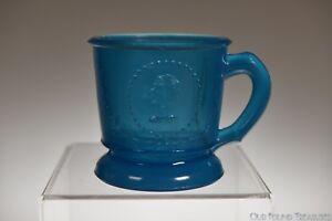"ca. 1870s ATTERBURY MEDALLION AKA CERES by Atterbury 3.25""H BLUE Child's Mug"