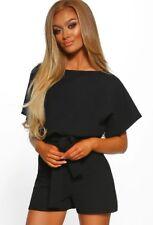 UK Womens Bandage Mini Playsuit Ladies Evening Party Short Jumpsuit Size 6-16