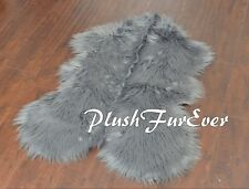 5' x 6' Cute Sheep Gray Grey Plush Fur Rug Area Accent Rugs PlushFurEver USA