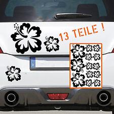 Autoaufkleber HIBISKUS SET Blume 13 STK Flower Sticker Aufkleber DUB OEM 128