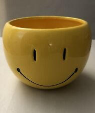 """Smiley Flower Pot Size 5-1/4"""" Wide X 3-3/4"""" Height"""