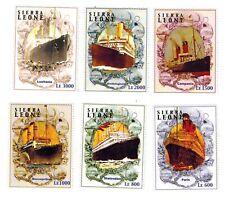MODERN GEMS - Sierra Leone - Ocean Liner Ships - Set of 6 - MNH