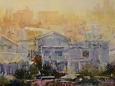 Contemporary Art/ Original painting by American Artist Rukie Jackson / Cityscape
